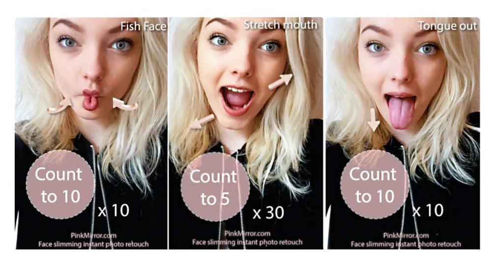 Gesichstyoga Übungen für ein schlankes 'Gesicht gegen Falten